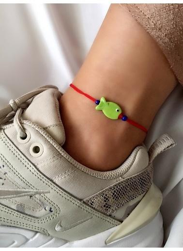 My Joyas Design Yeşil Balık İp Bileklik & Halhal Renkli
